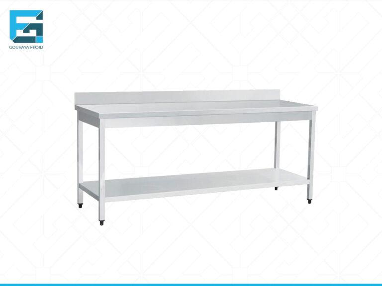 TABLE DE TRAVAIL AVEC DOSSERET AVEC ETAGERE