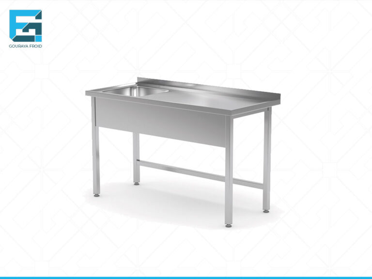 TABLE DE TRAVAIL AVEC DOSSERET AVEC EVIER